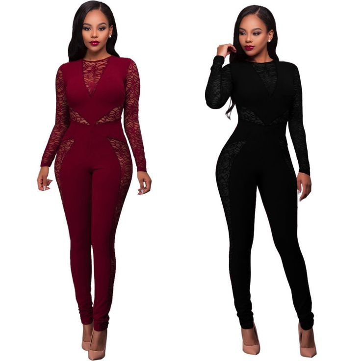 Womens Long Sleeve Clubwear Party Cocktail Evening Playsuit Jumpsuit Romper New #Unbranded #Jumpsuit