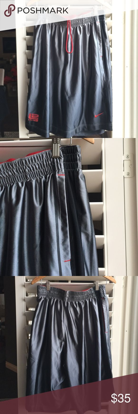 Nike Men's Shorts Nike Men's Shorts. Gently used. Has the start of some puckering of fabric but it is so light it's hard to get a picture of it. Cool design down the side. Basketball style shorts. Nike Shorts Athletic