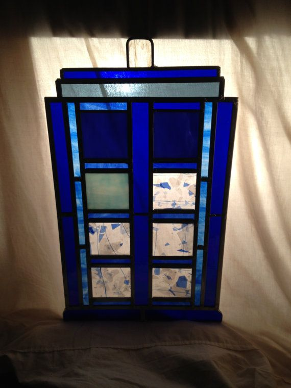 Dr. Who PARTY TARDIS - Large Stained Glass Panel