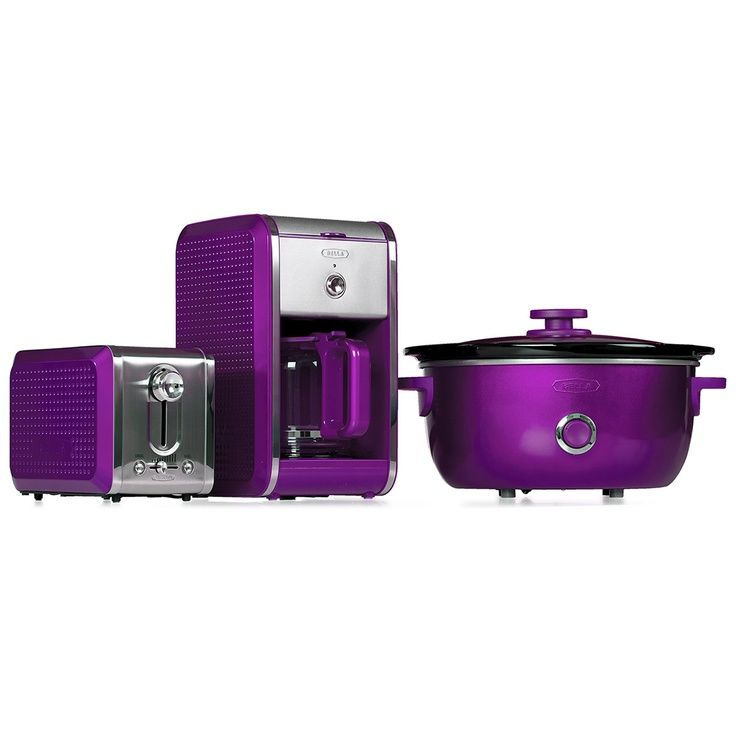 Bella Electric Coffee Maker : Purple appliances by Bella Your Perfect Purple Kitchen! Pinterest Appliances, Dots and ...