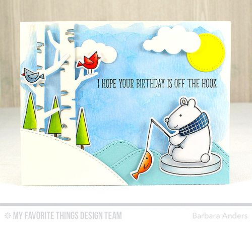 Handmade card from Barbara Anders featuring the Cooler with You Card Kit #mftstamps