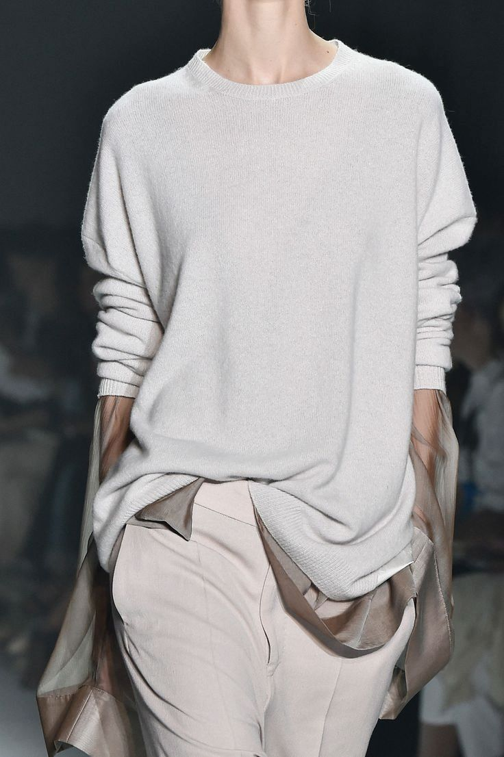 Slouchy sweater, silk blouse & trousers, chic fashion details // Haider Ackermann S/S 2015