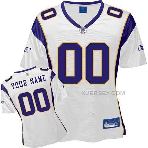 http://www.xjersey.com/minnesota-vikings-women-customized-white-jersey.html MINNESOTA VIKINGS WOMEN CUSTOMIZED WHITE JERSEY Only $75.00 , Free Shipping!
