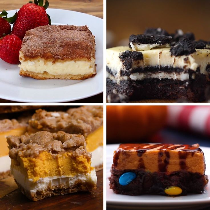 Cheesecake Bars 4 Ways
