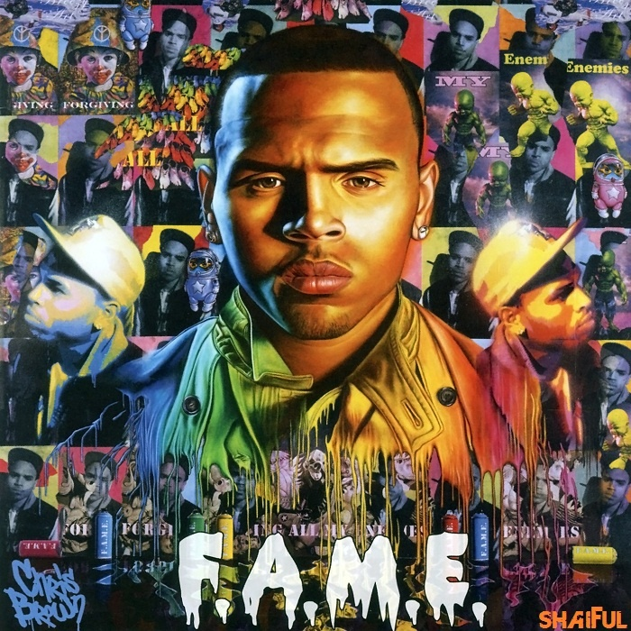 "Chris Brown ""FAME"" by Ron English"
