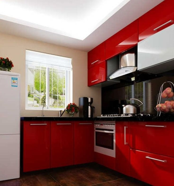 ikea kitchen red steel  Google Search  Kitchen  Good idea to use
