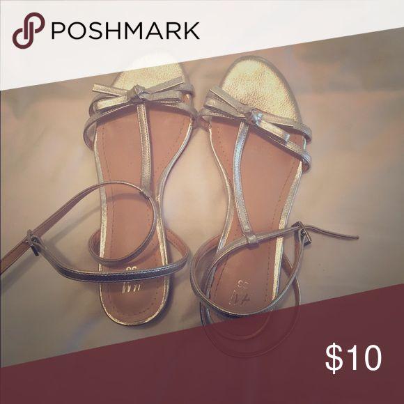 Sandals H&M sandals. Very cutie! Silver. Trendy. H&M Shoes Sandals