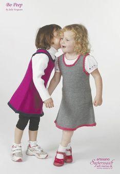 Stickbeskrivning till söt klänning för flickor 0-6 år. Av Julie Ferguson ...