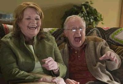 Janet Wright and Eric Peterson, Corner Gas