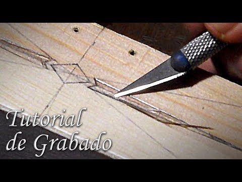 Cómo grabar madera fácilmente, con herramientas sencillas | How to make a easy wood engraving - YouTube