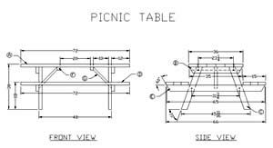 32 Free Picnic Table Plans + Top 3 Most Awesome Picnic Table Plan Awards |