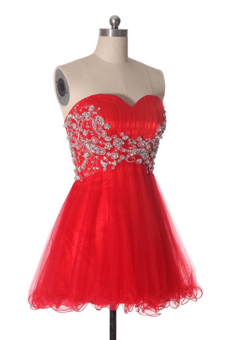 robe tutu rouge bustier coeur