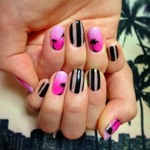 26 Impossible Japanese Nail Art Designs: 26 Best Images About Palm Tree Nail Art On Pinterest