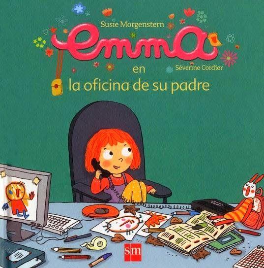 """""""Emma en la oficina de su padre"""" - Susie Morgenstern (SM) #padres #papas"""