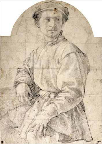 """Bronzino, """"Study for the Portrait of a Young Man with a Lute,"""" circa 1532-34."""