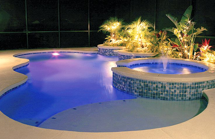 Pool LED Lighting done by Blue Haven Pools