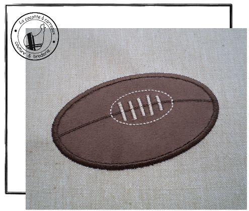 Broderie machine t l charger appliqu ballon de rugby broderie pinter - Ballon rugby vintage ...