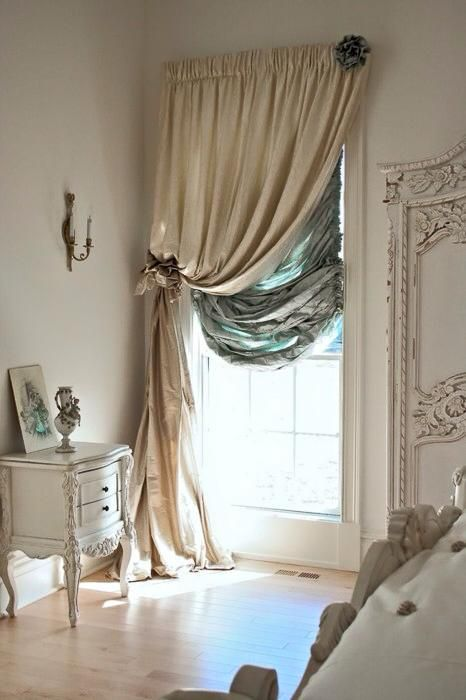 Gorgeous French Home House Decor Love The Curtains And Style Shabby Chic Glamour Cream Duck Egg Blue Window