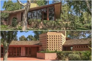 Two Views of the Ablin House in Bakersfield, Designed by Frank Lloyd Wright - Courtesy of Lamar Kerley