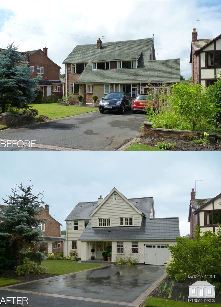 1960 S Before And After Remodelling Project In Guildford Surrey By Back To Front Exterior: Indoor Courtyard, Internal Courtyard And Home Ideas