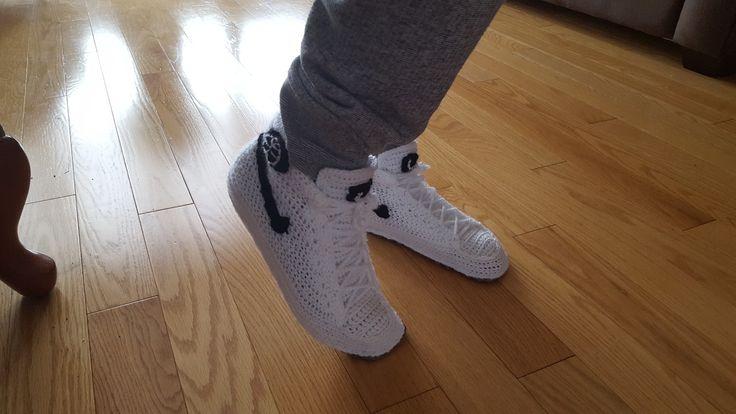 Jordan Air Force High Top Sneaker Slippers