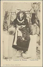 Greece, Messara Costume, Crete, Old postcard | .Rahmi Behaeddin. Delcampe.net
