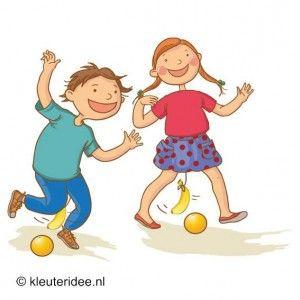 Fruit race, outdoor spelen voor kleuters, kleuteridee.nl .