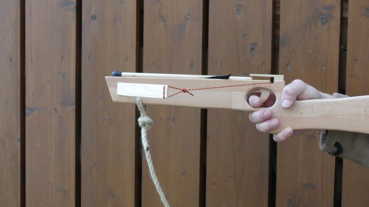 I made a wooden kids' crossbow.