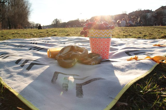 DIY: Picnic blanket with carrying strap #textileprinting #diy