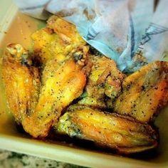 WingStop's Lemon-Pepper Chicken Wings Ingredients: 5 lbs. chicken wings or about 4 ¼ lbs. chicken drumettes 1/3 cup lemon juice 3 tbs. honey ¾ tsp. dried thyme 1 ¼ tsp. grated lemon peel 2 ½ tsp....