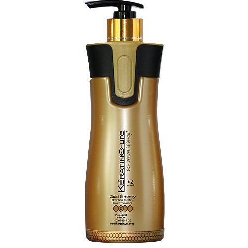 Keratin Cure Professional Brazilian Hair Treatment Gold and Honey V2 Cream Straightening 460 ml / 15 fl oz ** You can get more details by clicking on the image. #hairgrowth