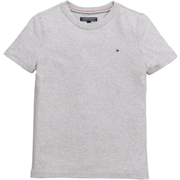 Tommy Hilfiger Ss Classic Tee Light Grey ($11) ❤ liked on Polyvore featuring tops, t-shirts, tommy hilfiger, tommy hilfiger t shirts, tommy hilfiger tops and light grey t shirt