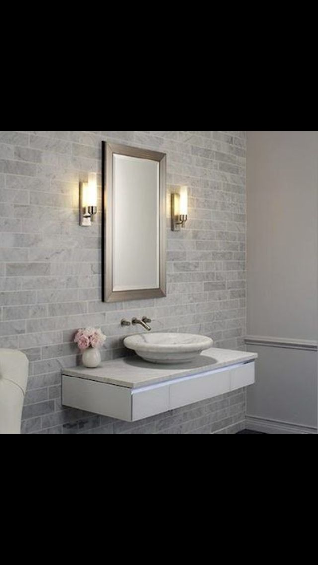 17 best images about formal half bathroom on pinterest planked walls wall faucet and vanities. Black Bedroom Furniture Sets. Home Design Ideas