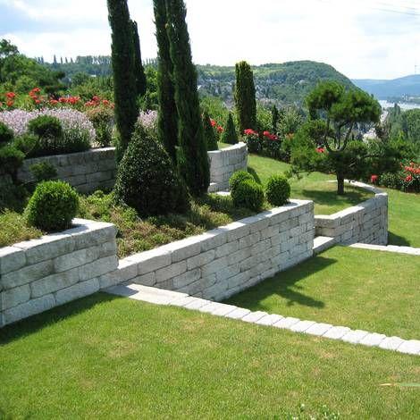 Mauerblock als Hangbefestigung Garten Pinterest - vorgarten gestalten reihenhaus