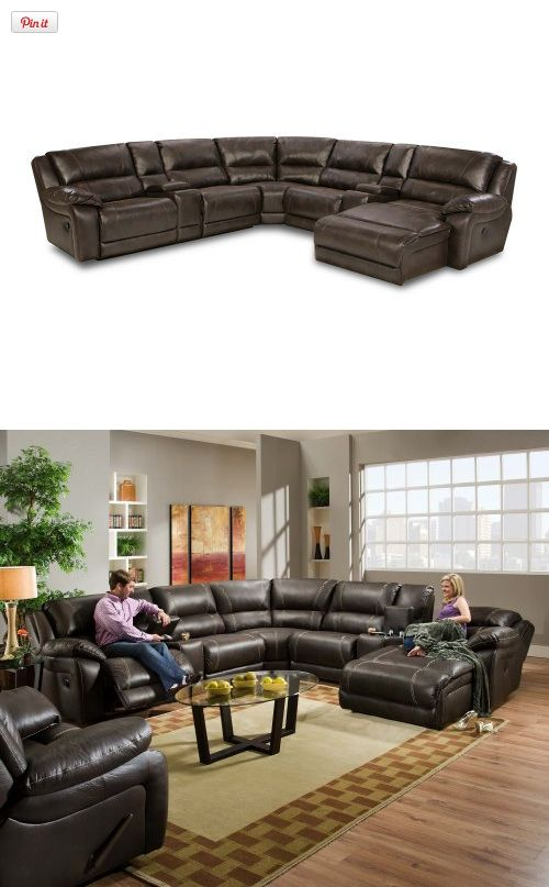 14 Best Man Cave Images On Pinterest Leather Sectional