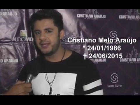 VIDEO: Cristiano Araújo concedendo sua ultima entrevista para a TV João Dourado em Irecê quatro dias antes de sua morte, a um ano atras... Veja em: https://www.youtube.com/watch?v=Ohtvlsy5LJM