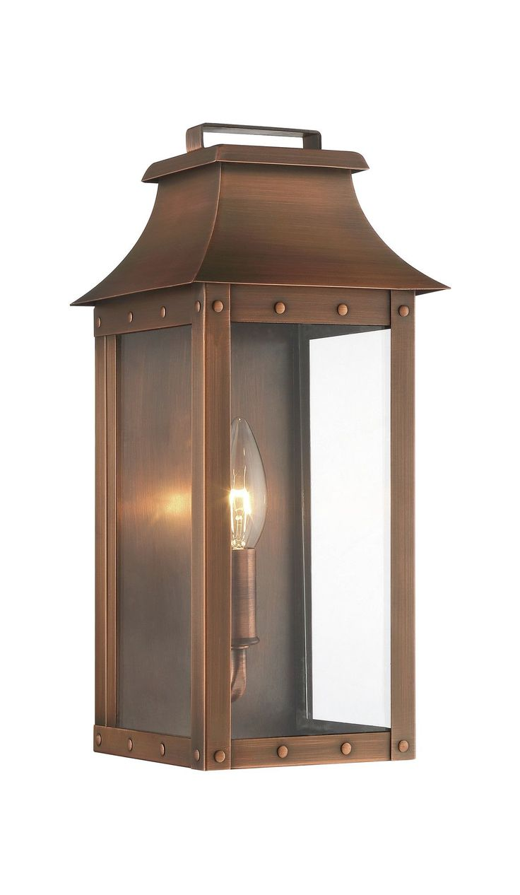 Features:  -Manchester collection.  -Number of lights: 1.  -Design inspired by antique gas lanterns.  -Features clear glass panels.  -Gas: No.  Lighting Type: -Flush mount.  Hardware Finish: -Stainles