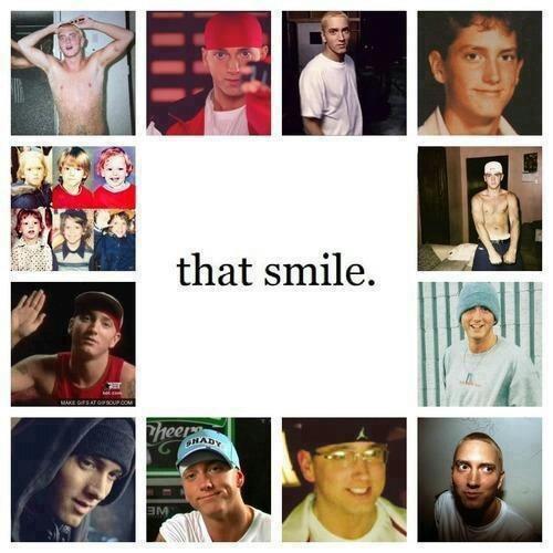 Eminem  that smile!