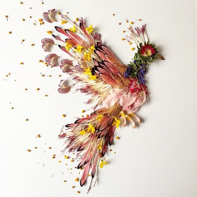 Firebird - Made with Flowers by Flora Forager