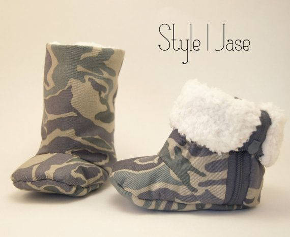 CAMO Baby Boots, Baby Boy Boots, Baby Camouflage, Soft Sole Baby Boots, Infant Shoes on Etsy, $19.99