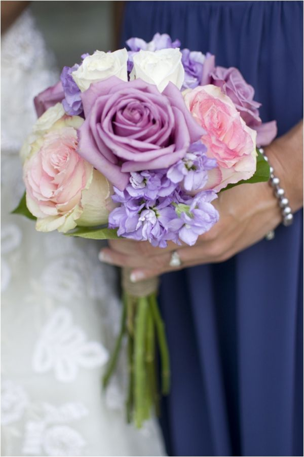 bridesmaids bouquets except on a larger scale to transition them into centerpieces
