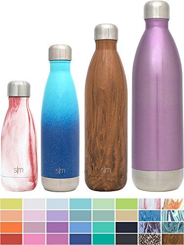 Simple Modern 34 Ounces Wave Water Bottle - Vacuum Insulated Double Wall 1 Liter 18/8 Stainless Steel Purple Hydro Swell Leak Proof Flask - Shimmering Collection - Amethyst. For product & price info go to:  https://all4hiking.com/products/simple-modern-34-ounces-wave-water-bottle-vacuum-insulated-double-wall-1-liter-18-8-stainless-steel-purple-hydro-swell-leak-proof-flask-shimmering-collection-amethyst/