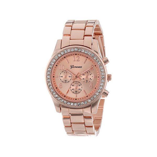2016 Casual Watch Geneva Unisex Quartz Watches Women Analog Wristwatches Stianless Steel Sports Watches Relogio Feminino
