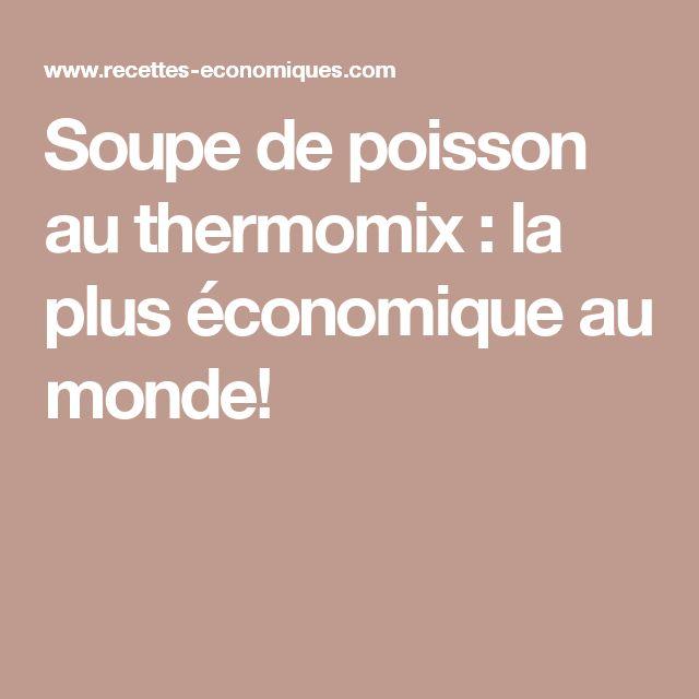 Soupe de poisson au thermomix : la plus économique au monde!