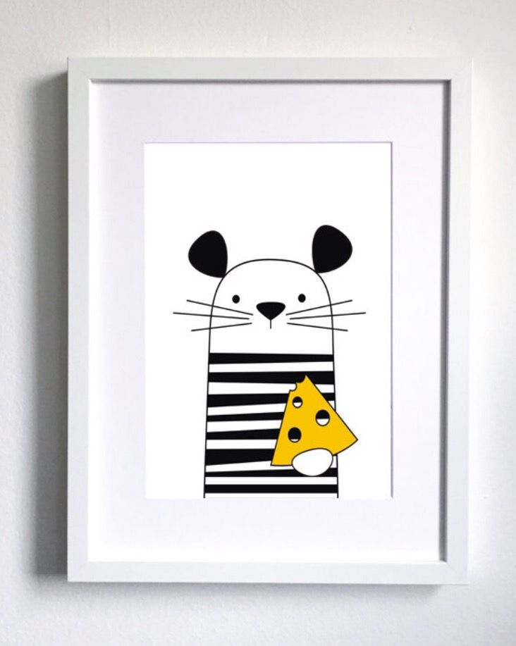 Thinking in black and white again with a pop of colour!  If you like this cutie please check our Etsy shop! #twowallnuts #etsy #etsytwowallnuts #blackandwhite #mouse  #scandinavianprint #cheese #blackandwhiteprint #childrenswallart #illustration  #childrensroomprint #kidsroom #kidsprint #childrensart #homedecor #decor #art #arts #drawing #childrenillustration