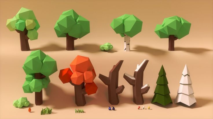 low poly art 3d models - Google Search