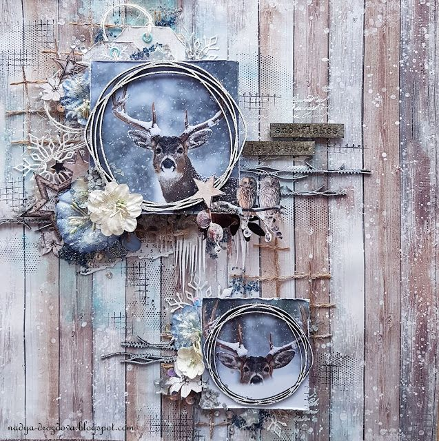 "Handmade by Nadya Drozdova: ""Let it snow"" или последняя зимняя работа)))))"