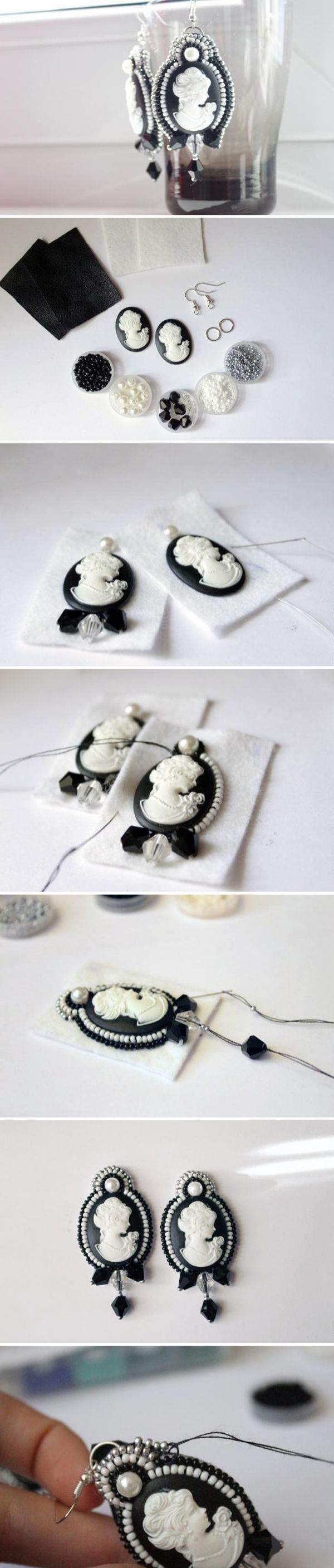beaded earrings tutorial....they are so beautiful <3, I wonder if I can do it so perfectly?