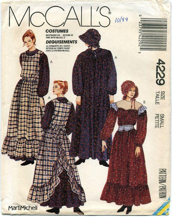 Misses' Pioneer Costumes  Dress Apron and von MyChickadeesNest, $10.00