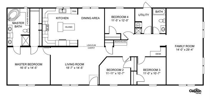 Clayton Homes | Home Floor Plan | Manufactured Hom…
